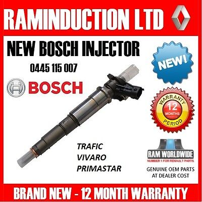 Renault Trafic Injector - 0445115007 - 2.0 dci 115 bhp NEW BOSCH INJECTOR