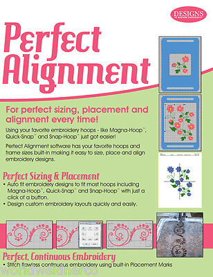 Designs in Machine Embroidery DIME Perfect Alignment Software CD00201