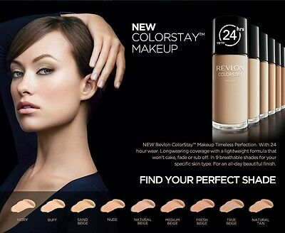 (1) Revlon Colorstay For Combination/Oily Skin Makeup, You Choose!!