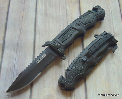 Tacforce Tactical Rescue Spring Assisted Knife With Pocket Clip