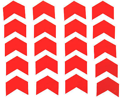 "Reflective Red Chevrons Vinyl Stickers 2"" wide."