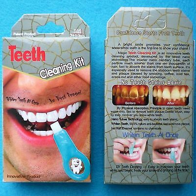Teeth Whitening Cleaning Magic Teeth Tooth Stain Remover No Peroxide No Chemical