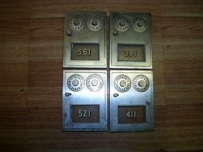 CORBIN NICKEL PLATED POST OFFICE BOX DOOR SIZE #1 3 5/8 X 5 #1