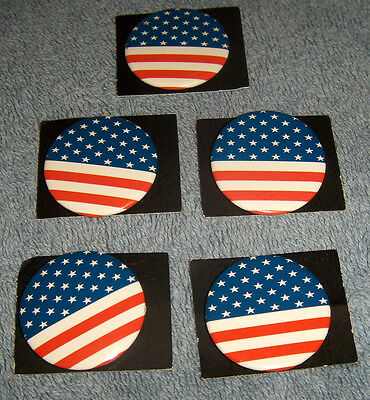 5 US Flag Pins Buttons Stars and Stripes New FREE SHIP