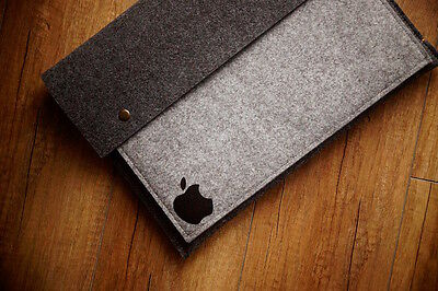 "Apple MacBook Air 13"" Felt Sleeve Case Cover Bag - with buttons"