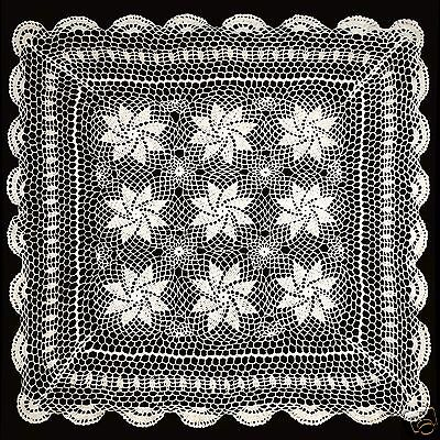 """30""""x30"""" Vintage Crochet Lace Doilies Placemat Table Runner Ivory Hand-Made"""