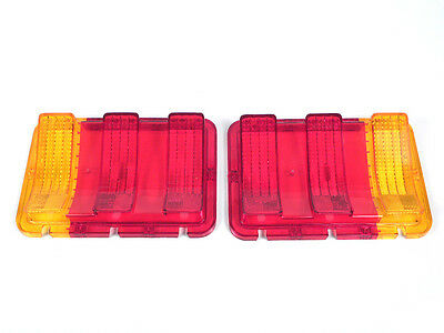 1967 1968 Mustang Tail Lamp Lens Amber/Red For Custom and Exported Models   Rare