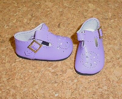 Doll Shoes LIGHT PURPLE 44mm T-Straps for Ellowyne, Patience & NuMood