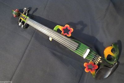 Rare solid wood SONG design streamline 5 strings 4/4 electric violin 7276AAA