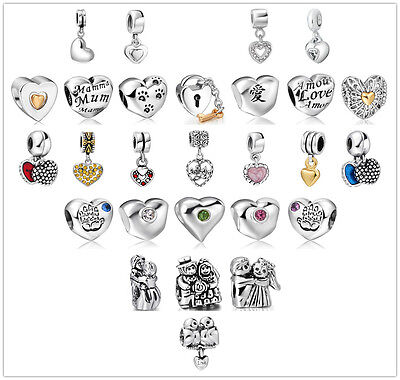 Love Silver Charm pendant Bead Fit sterling 925 European Necklace Bracelet Chain