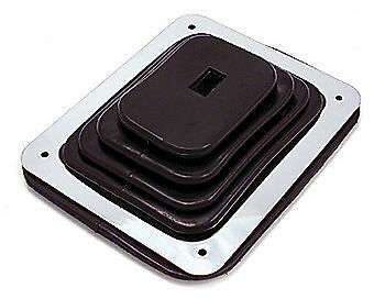 """S9631 LARGE RUBBER SHIFTER BOOT WITH CHROME PLATE 7 3/4"""" x 8 3/4"""""""