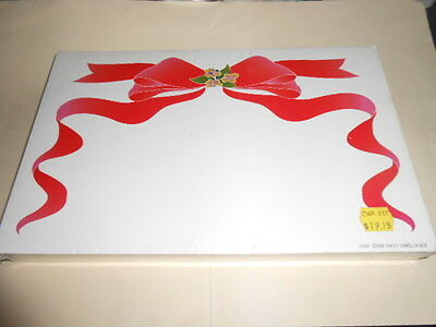 """STORE SALE SIGNS RED BOW ON WHITE  MOTIF BLANKS 100 PCS 7"""" X 11"""""""
