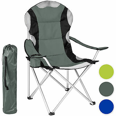 Heavy Duty Royal Padded Folding Camping Directors Chair with Cup Holder Portable