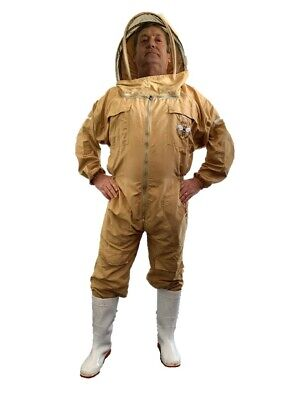 [UK] Lightweight BUZZ Beekeepers Bee suit - Colour latte, Size: SMALL