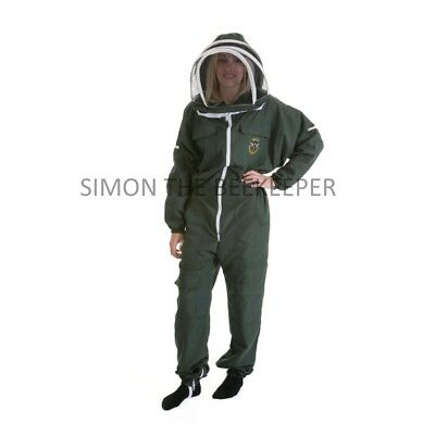 Lightweight BUZZ Beekeepers Bee suit - Colour Forest Green. Size: 4XL