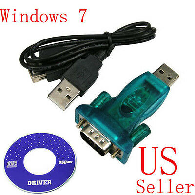 USB 2.0 to 9-pin RS232 COM Port Serial Convert Adapter