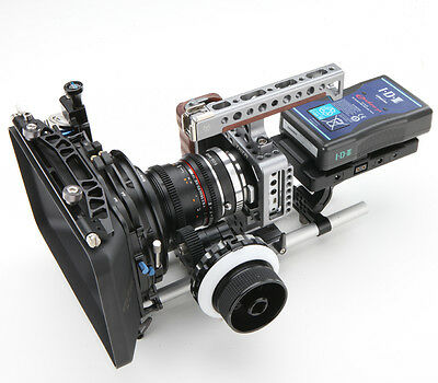 TiLTA Cage Rig BMPCC Blackmagic Pocket Cinema Camera +Follow focus+V-Mount Power