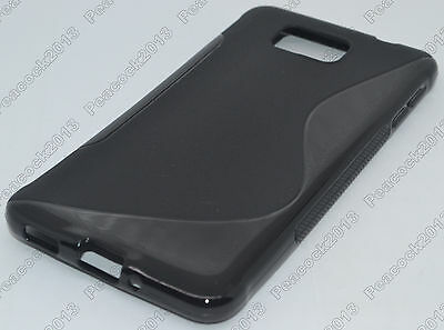 Black S-Types TPU Silicone CASE Cover For Samsung Galaxy Alpha SM-G850F/SM-G850A