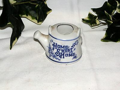 Porcelain Tooth Pick Holder - Blue & White - Home Sweet Home Teapot