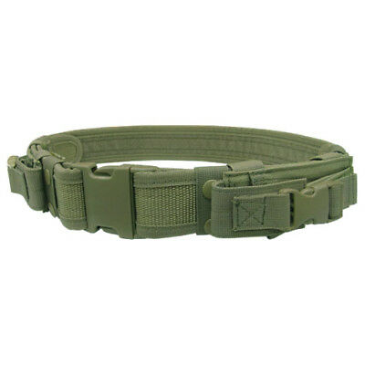 Condor Military Tactical Belt With Pistol Mag Pouches Airsoft Webbing Olive Drab