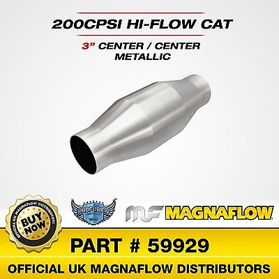 "3"" 76mm Magnaflow Universal High Flow Sports Catalytic 200 Cell Cat 59929"