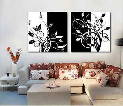 Modern abstract art on canvas printing oil painting flowers (no frame)