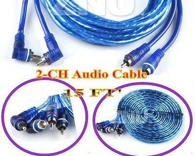 Cable Wring kit for RCA /Phono Lead /Car AMP/Amplifier/AUDIO INTER CONNECT 15'FT