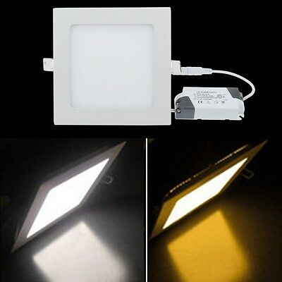 6W Bright CREE LED Recessed Ceiling Panel Down Light Lamp Pure/Warm White Driver