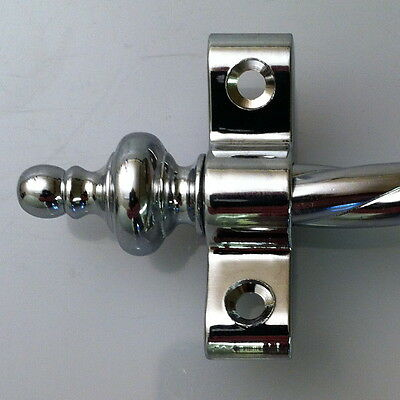 Polished Chrome 3/8 Inch Rope Stair Carpet Rod Urn Finial (R03Rou)