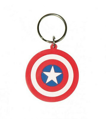 CAPTAIN AMERICA - RUBBER KEYCHAIN / KEY RING