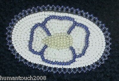 Eskimo Native Tribe Inupiat Beaded Collectible Hair Barrette By P Olanna