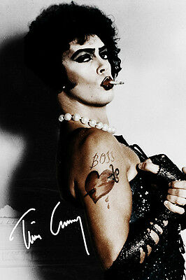 TIM CURRY - SIGNED PHOTO PRINT POSTER  - THE ROCKY HORROR PICTURE SHOW