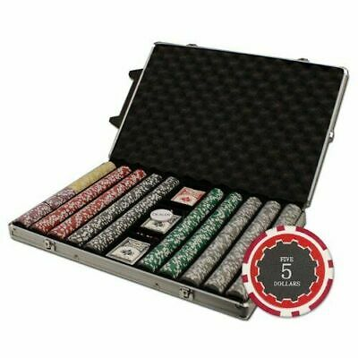 New 1000 Eclipse 14g Clay Poker Chips Set with Rolling Case - Pick Chips!