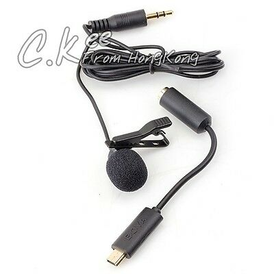 BOYA BY LM20 3.5mm Clip External Microphone Mini USB Adapter for GoPro Hero 3+ 2