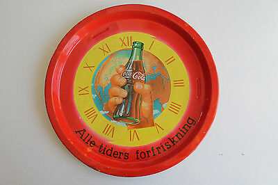 Two Old Norwegian Coca-Cola Metal Serving Trays - L@@K