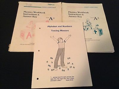 Tracing Masters ABCs # Christ-Centered Phonics Workbook Answer Key Level A:1 & 2