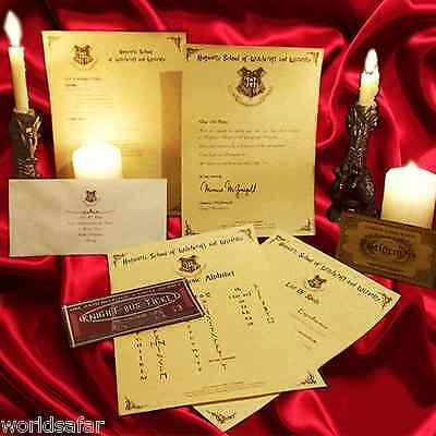 Hogwarts Harry Potter Personalised Acceptance Letter CHRISTMAS SPECIAL! Gift for
