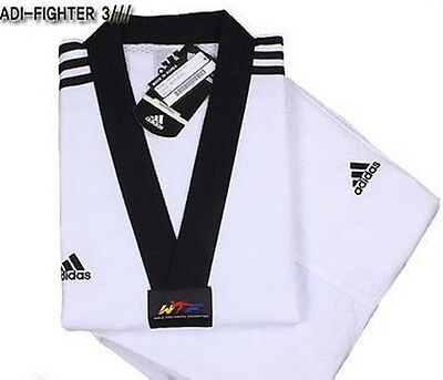 Adidas ADI-FIGHTER NEW 3-STRIPE Taekwondo Uniform (Dobok) TKD Tae Kwon Do
