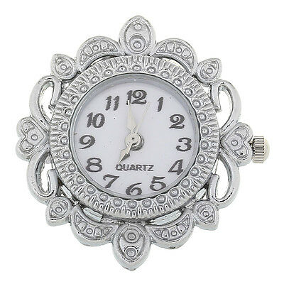 wholesale lots Round Quartz Watch Hollow W/Battery Silver Plated 3.2cmx3.1cm