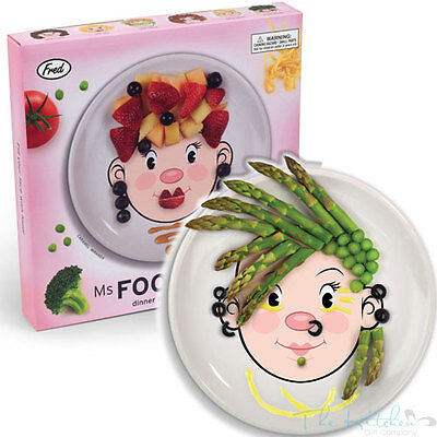 Fred & Friends Ms Food Face Make Faces at the Table - Novelty Kids Dinner Plate