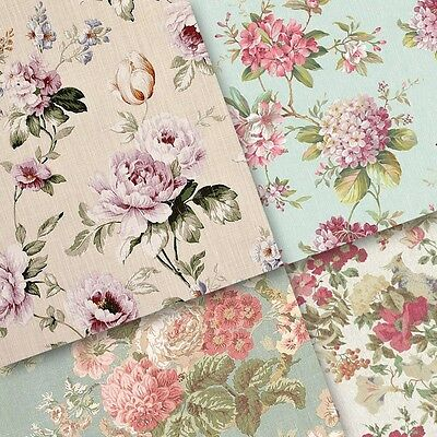 exclusive 40/ 20pc elegant Vintage floral pattern scrapbook paper 4 design