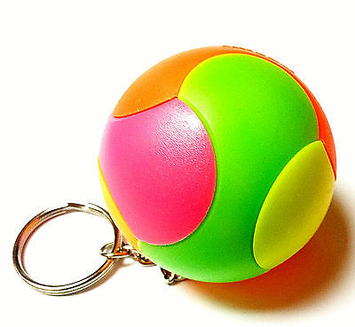 lot of 3 piece - 5cm puzzle ball key chain - ideal for birthday party game gift