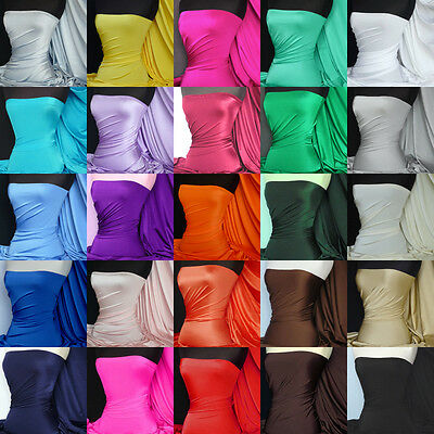 Shiny lycra 4 way stretch fabric swimwear material various colors FREE P&P