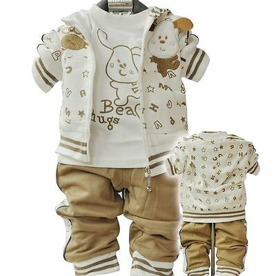 Baby/Toddler Boy 3PC Outfit Sets Sport Style  Dog Fancy dress Size 1-3 years Old