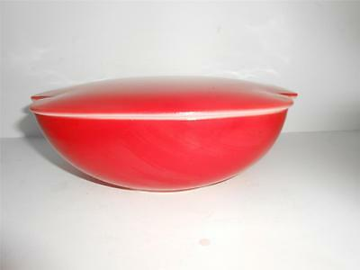 Vintage Pyrex 1.5 Quart AND 2.5 Quart Tab Handled RED Casserole Dishes