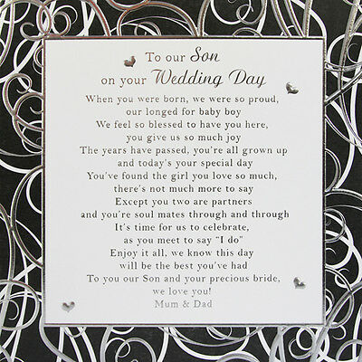 A4 Joint Poem To My Our Son And Daughter In Law On Your Wedding