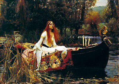 John William Waterhouse - The Lady of Shalott - A3 QUALITY Canvas Print Poster