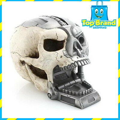 Cyborg Solid Skull ( Poly-Resin Hand Crafted ) Figure Display New