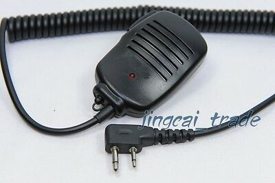 2-Pin Speaker Mic for ICOM COBRA MAXON Radio with 3.5mm jack