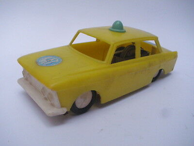 VINTAGE BULGARIA FRICTION PLASTIC POLICE MOSKVICH CAR TOY
